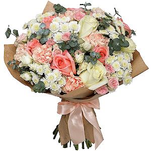 """Цветы на 14 февраля - Букет """"Ваниль"""""""