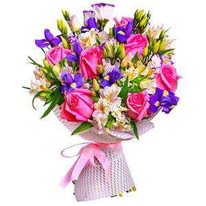 Прекрасный букет +30% цветов с доставкой в Тихвине