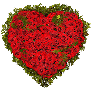 """Цветы на 14 февраля - Композиция """"Сердце из роз"""""""