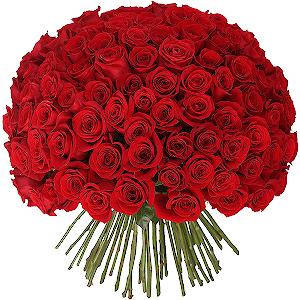 Букет из 101 красной розы с доставкой в Тихвине