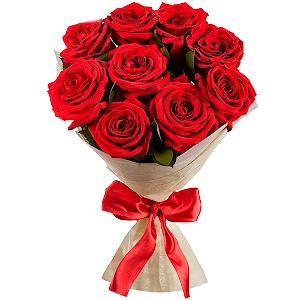 """Цветы на 14 февраля - Букет """"Рубиновое сияние"""""""