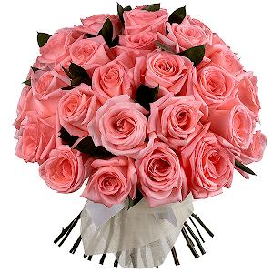 Букет из 35 розовых роз с доставкой в Тихвине